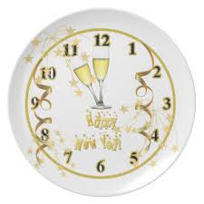 new year plates clock plates zazzle