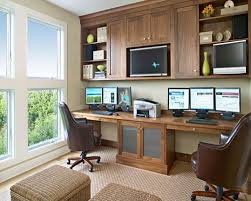 interesting casual home office decorating ideas with l shape