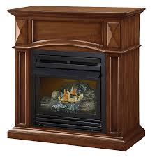 shop pleasant hearth 35 75 in dual burner vent free cherry corner