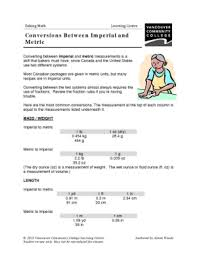 imperial to metric conversion worksheets vcc lc worksheets culinary arts baking math chemistry