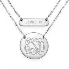 monogrammed necklace monogram necklaces gold monogram necklaces namenecklacesaler