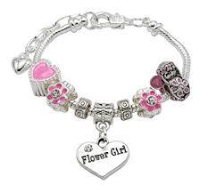 flower girl charm bracelet flower girl charm bracelet with gift box 2 colours available
