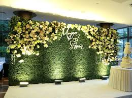 wedding backdrop green greenery and floral wall wedding backdrop interactive greenery