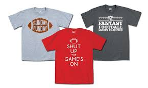 themed shirts men s football themed t shirts groupon goods