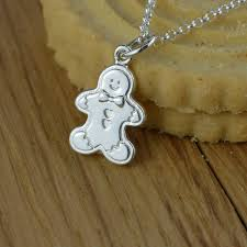 man charm necklace images Gingerbread man charm necklace by lily charmed jpg