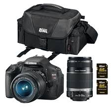 canon t3i 18 0mp dslr camera bundle with 18 55mm is lens 55 250mm