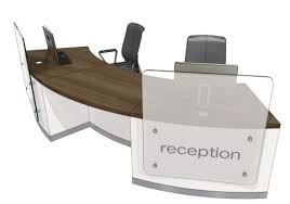 Two Person Reception Desk Two Person Curved Reception Desk Evo Z Office Reality