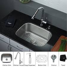 kitchen faucets and sinks stainless steel kitchen sink combination kraususa com
