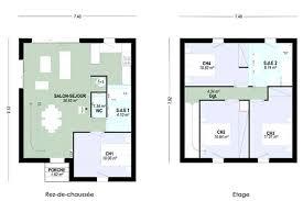 plan maison 4 chambres suite parentale ison etge plan maison chambres plain pied avec suite parentale