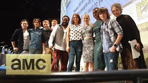 new walking dead cast 2016 backstage with the cast at comic con the walking dead season 5