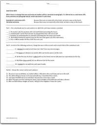 verb tense shift worksheet