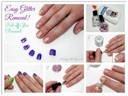 easy glitter polish removal how to make glue base coat work and