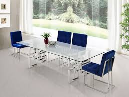 alexis 731 chrome dining table w glass top u0026 optional chairs
