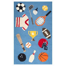 Sports Area Rug Blue Sports Area Rug 3 X5 Rizzy Home Target