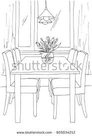 Part Of Flowers - part dining room round table chairs stock vector 607168448