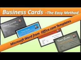 Business Card Microsoft Word Business Card Make Business Cards Microsoft Word 2010 Youtube