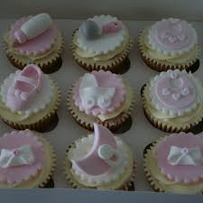 pink u0026 white baby shower cupcakes