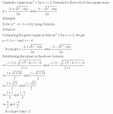 solving quadratic equation by using quadratic formula high