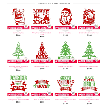 christmas digital die cutting files totallyjamie svg cut files