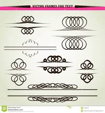 vector ornament frames for text stock photo image 17669400
