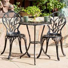High Bistro Table Set Outdoor Bistro Style Patio Table Chairs Patio Furniture Conversation