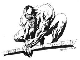 sketch spider man villain venom