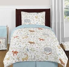 woodland toile bedding set 4 piece twin size by sweet jojo
