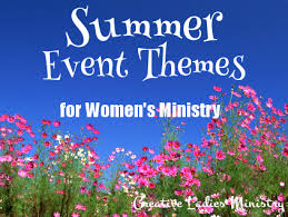 summer womens and ministry themes from creative