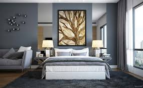 Dark Grey Accent Wall by Enchanting Modern Bedroom Design In Slate Gray Interior Palette By