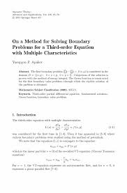 on a method for solving boundary problems for a third order