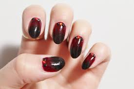 jersey texan heart nye black and red ombre nail art
