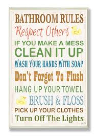 Ducks Unlimited Home Decor Amazon Com Stupell Home Décor Bathroom Rules Typography Rubber