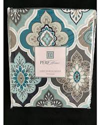 Teal And Brown Shower Curtain Don U0027t Miss This Bargain Peri Lilian Tile Medallion Aqua Teal Grey