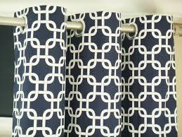 pair of custom modern designer grommet curtain drapery panels 50