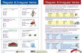 regular u0026 irregular verbs visual learning guide laminated 4