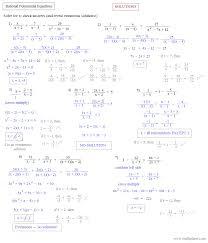solve equations by factoring worksheet worksheets