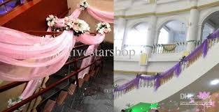 Wedding Backdrops For Sale Organza For Background Of Wedding Or Decoration 110 Meters Roll