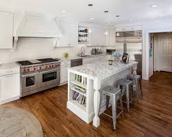 Brookhaven Kitchen Cabinets White Kitchen With Stainless Steel Appliances Traditional