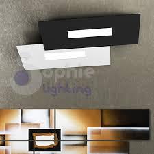 plafoniere a soffitto moderne plafoniera soffitto led design moderno minimal bianco nero soggiorno