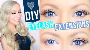 Eyelash Extensions Natural Look Diy Eyelash Extensions Youtube
