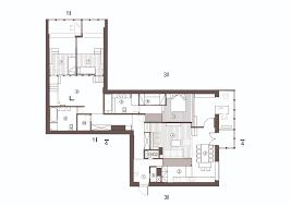 175 sqm unique apartment interior design with inserted wood