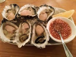 mignonette cuisine local rock oysters served with mignonette sauce picture of steel