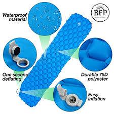 ultralight sleeping pad by bfp outdoors compact blue sleeping