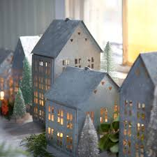 cutout house lantern christmas villages house and holiday