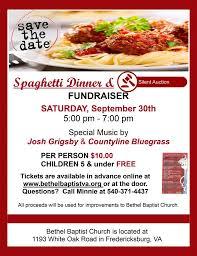spaghetti dinner order tickets bethel baptist church