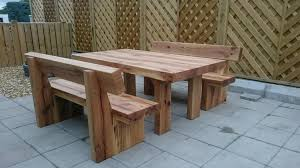 chic garden table and bench 77 best images about garden ideas on