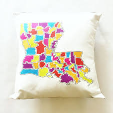 Louisiana travel pillows images Best 25 map of louisiana parishes ideas louisiana jpg