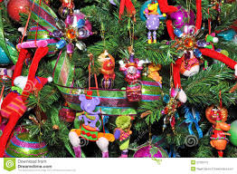 christmas tree decorated with children u0027s toys stock photography