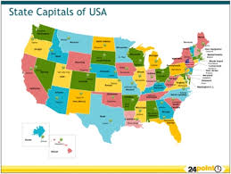 map of usa showing states and capitals and major cities united states map state and capitals names the u s state capitals