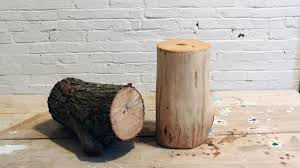 How To Make A Wood Stump End Table by Diy Log End Table Youtube
